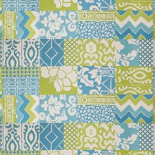 Turquoise Lime Animal Drapery and Upholstery Fabric by Stroheim