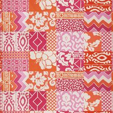 Pink Orange Animal Drapery and Upholstery Fabric by Stroheim