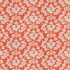 Persimmon Floral Drapery and Upholstery Fabric by Stroheim
