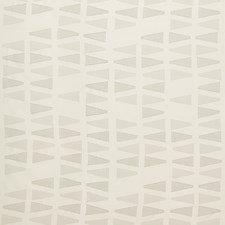 White/Taupe Geometric Drapery and Upholstery Fabric by Kravet