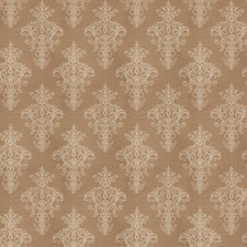 Taupe Medallion Drapery and Upholstery Fabric by Trend