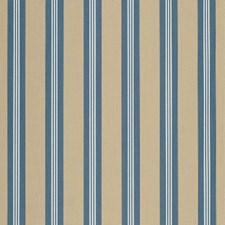 Sapphire Vintage Bar Stripe Drapery and Upholstery Fabric by Sunbrella
