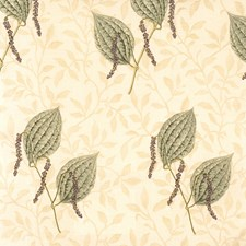 Amethyst/Sage Leaves Drapery and Upholstery Fabric by Vervain