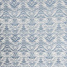 Indigo Animal Drapery and Upholstery Fabric by Vervain