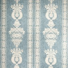 Teal Print Pattern Drapery and Upholstery Fabric by Vervain