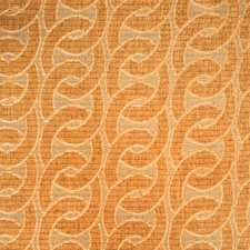 Cantaloupe Geometric Drapery and Upholstery Fabric by Vervain