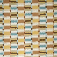 Turquoise Global Drapery and Upholstery Fabric by Vervain