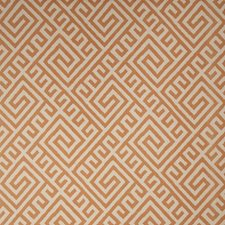 Tangerine Geometric Drapery and Upholstery Fabric by Vervain