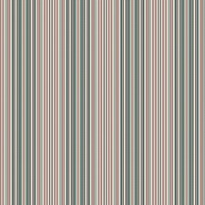 Coral Green Stripes Drapery and Upholstery Fabric by Vervain