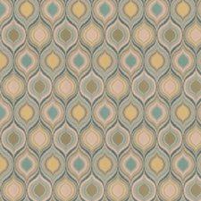Aqua Flamestitch Drapery and Upholstery Fabric by Fabricut