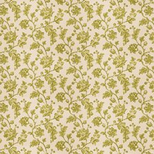 Lime Floral Drapery and Upholstery Fabric by Fabricut