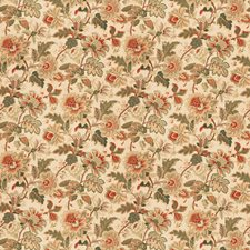Coral Mist Floral Drapery and Upholstery Fabric by Fabricut