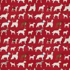 Red Animal Drapery and Upholstery Fabric by Trend