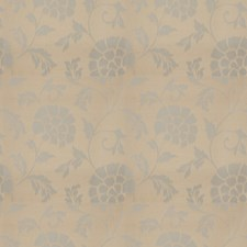 Blue Silver Floral Drapery and Upholstery Fabric by Stroheim