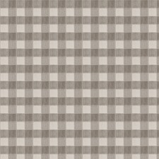 Grey Check Drapery and Upholstery Fabric by Stroheim