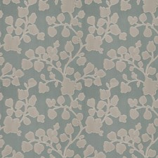 Aqua Floral Drapery and Upholstery Fabric by Trend