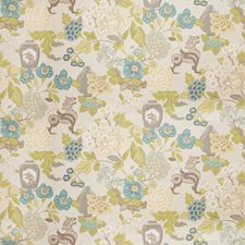 Aqua Animal Drapery and Upholstery Fabric by Trend