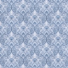 Blue Paisley Drapery and Upholstery Fabric by Fabricut