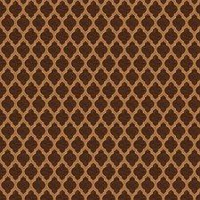 Chocolate Jacquard Pattern Drapery and Upholstery Fabric by Fabricut