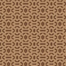Coffee Geometric Drapery and Upholstery Fabric by Fabricut