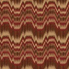 Paprika Flamestitch Drapery and Upholstery Fabric by Fabricut