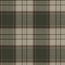Olive Check Drapery and Upholstery Fabric by Stroheim
