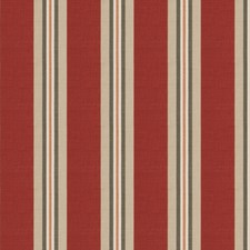 Red Print Pattern Drapery and Upholstery Fabric by Stroheim