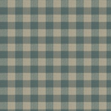Canyon Blue Check Drapery and Upholstery Fabric by Stroheim