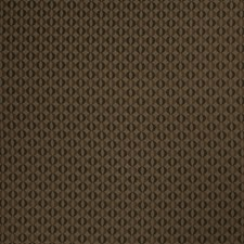 Coffee Geometric Drapery and Upholstery Fabric by Stroheim