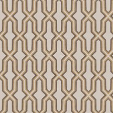 Gold Lattice Drapery and Upholstery Fabric by Fabricut