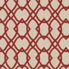 Vermillion Geometric Drapery and Upholstery Fabric by Fabricut