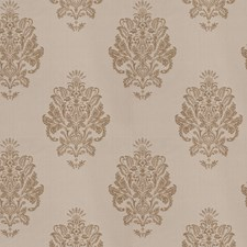 Linen Medallion Drapery and Upholstery Fabric by Trend