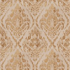 Gold Crewel Drapery and Upholstery Fabric by Trend