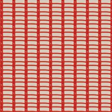 Sunset Coral Novelty Drapery and Upholstery Fabric by S. Harris