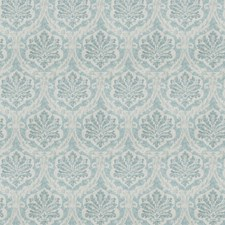 Aqua Damask Drapery and Upholstery Fabric by Vervain