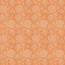 Salmon Floral Drapery and Upholstery Fabric by Vervain