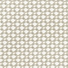 Stone/White Drapery and Upholstery Fabric by F Schumacher