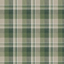 Evergreen Check Drapery and Upholstery Fabric by Stroheim