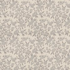 Ice Blue Floral Drapery and Upholstery Fabric by Stroheim