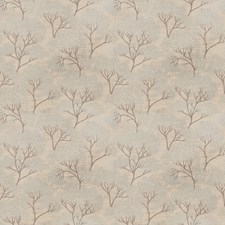Ice Blue Leaves Drapery and Upholstery Fabric by Stroheim