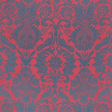 Rouge/Prussian Blue Drapery and Upholstery Fabric by Schumacher