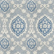 Cobalt Damask Drapery and Upholstery Fabric by Vervain