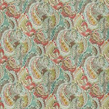 Spring Rose Paisley Drapery and Upholstery Fabric by Fabricut