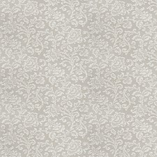 Taupe Floral Drapery and Upholstery Fabric by Fabricut