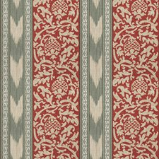 Agate Red Print Pattern Drapery and Upholstery Fabric by Vervain