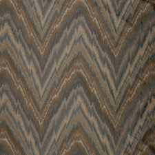 Blue Pewter Flamestitch Drapery and Upholstery Fabric by Trend