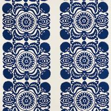 Cobalt Drapery and Upholstery Fabric by Schumacher