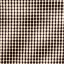 Chocolate Check Drapery and Upholstery Fabric by Trend