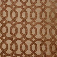 Brick Geometric Drapery and Upholstery Fabric by Trend