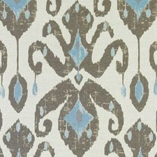 Aqua/Cocoa Chenille Drapery and Upholstery Fabric by Duralee